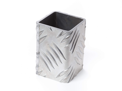 アルミ 縞鋼鈑 8.0t曲げ溶接